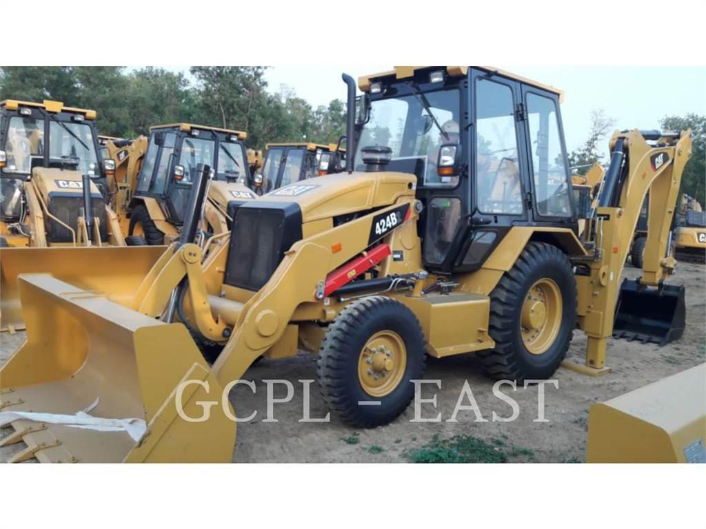 Caterpillar 424B2, buldoexcavatoare, Constructii