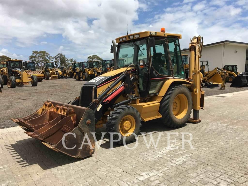 Caterpillar 428D, backhoe loader, Construction
