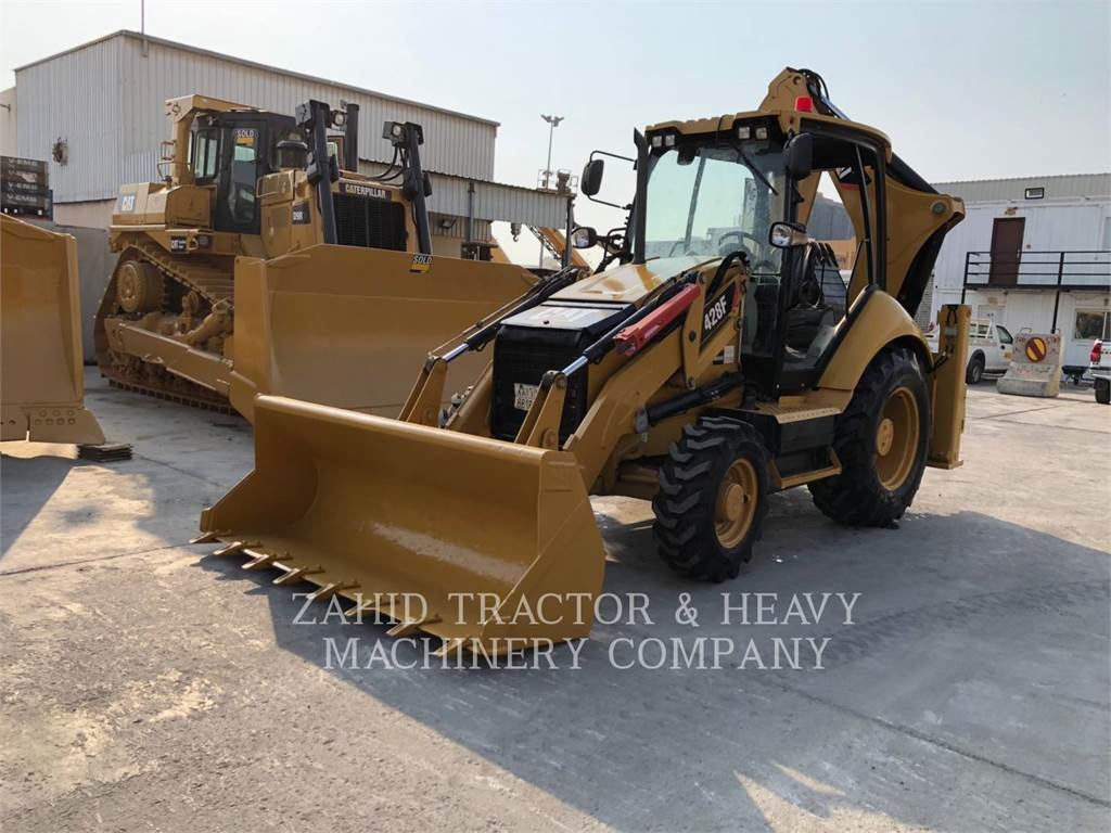 Caterpillar 428F, backhoe loader, Construction