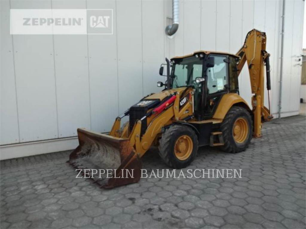 Caterpillar 428F, backhoe loader, Construction