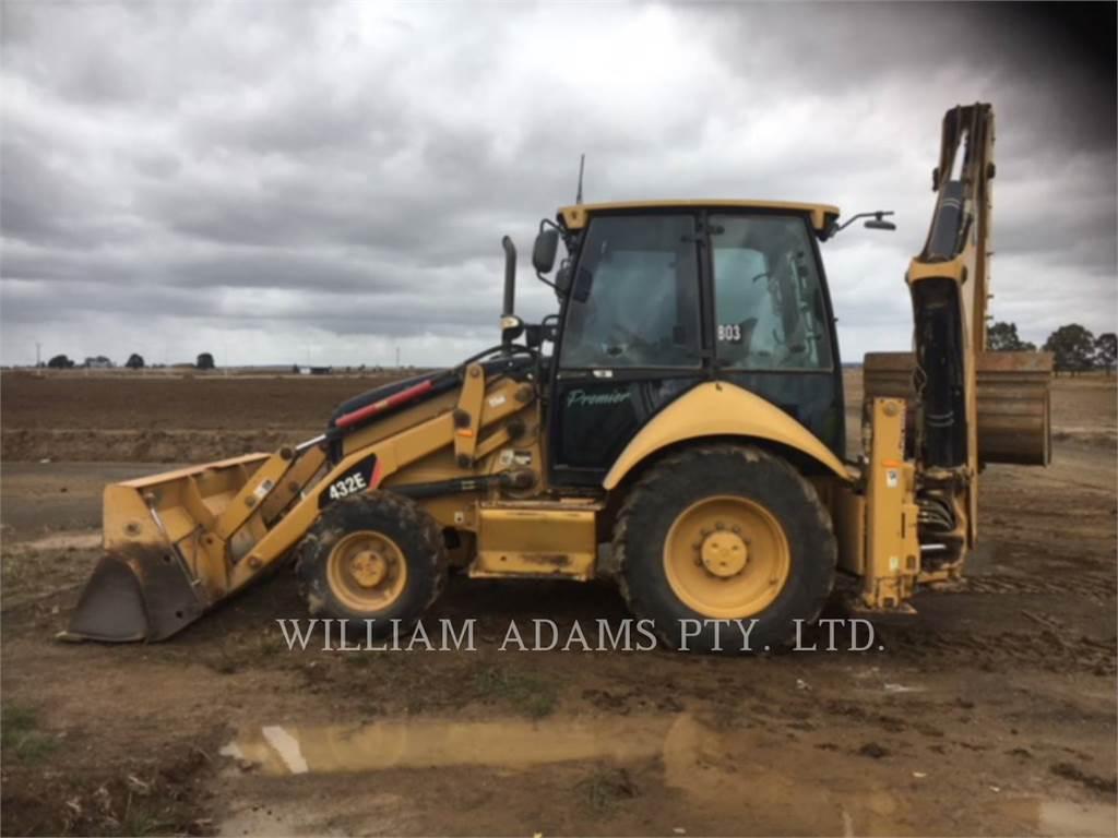 Caterpillar 432E, backhoe loader, Construction