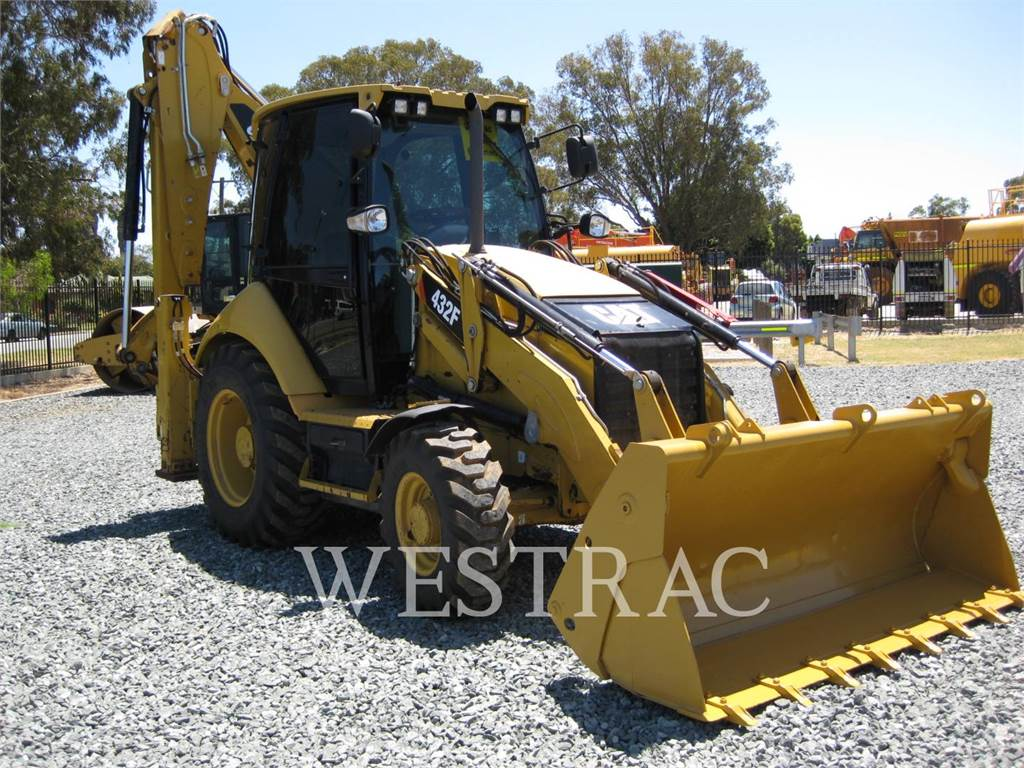 Caterpillar 432F, backhoe loader, Construction