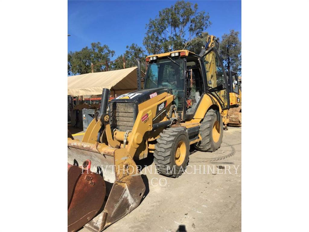 Caterpillar 450F, backhoe loader, Construction