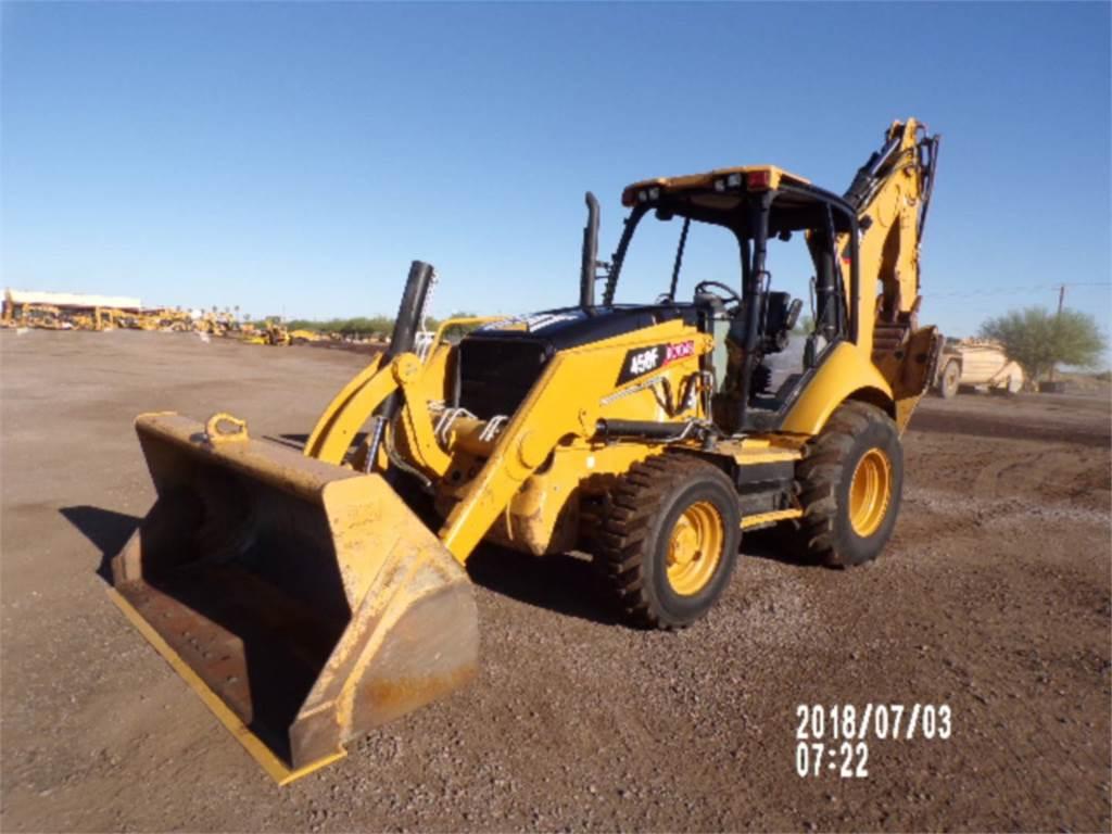 Caterpillar 450F, retroescavadeiras, Equipamentos Construção