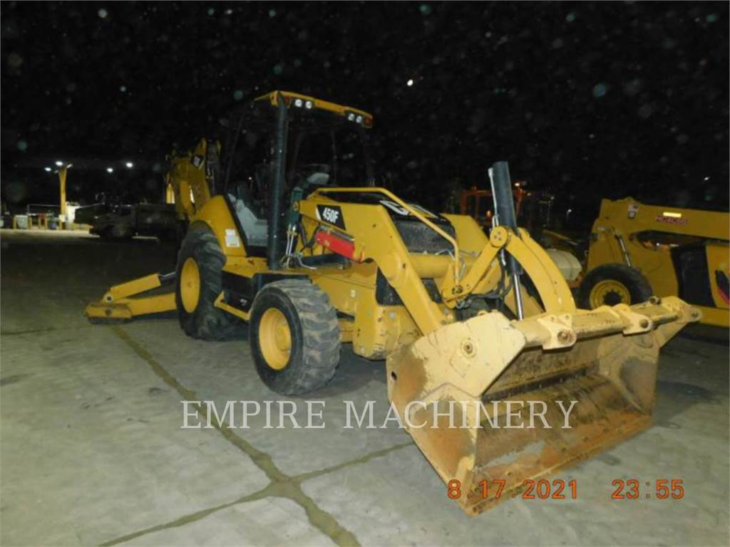 Caterpillar 450F, backhoe loader, Construction