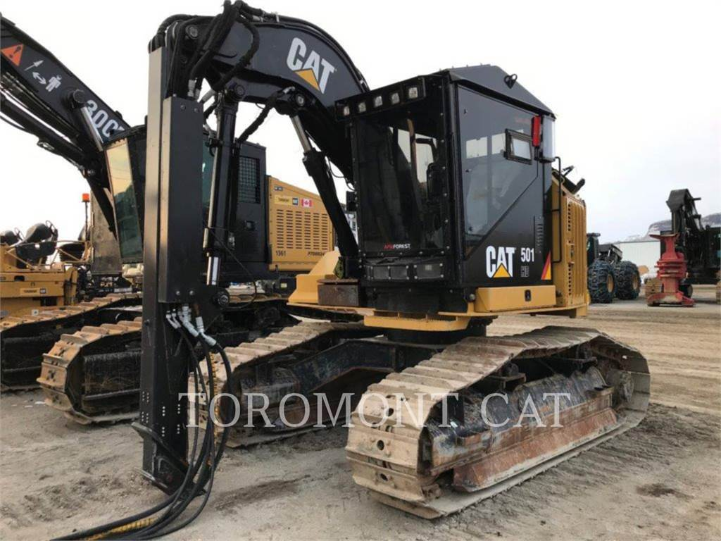 Caterpillar 501HD, Gelenkausleger Lader, Forstmaschinen