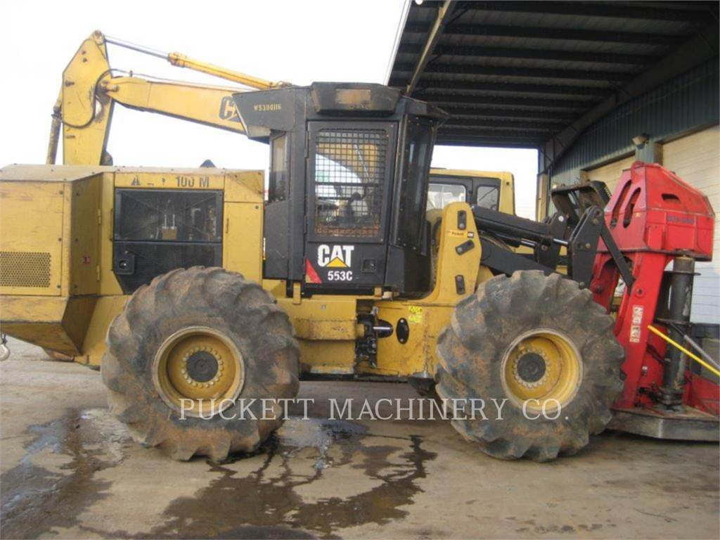 Caterpillar 553C, Abatteuse groupeuse, Forestier