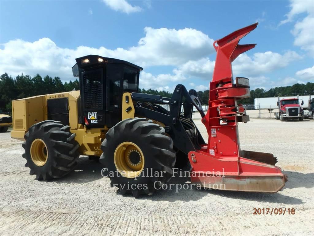 Caterpillar 553C, Abbattitrici cingolate e macchine forestali, Forestale