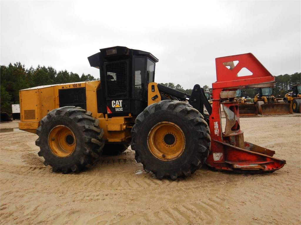 Caterpillar 563 C, Abatteuse groupeuse, Forestier
