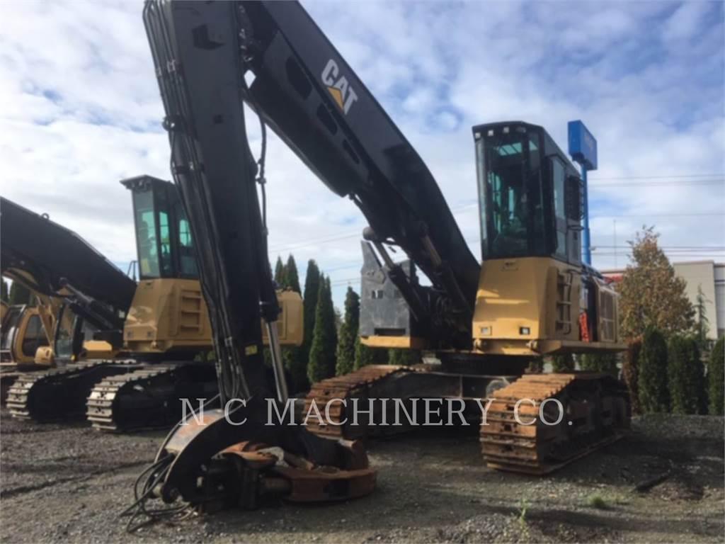 Caterpillar 568LL、ナックルブームローダー、林業機械