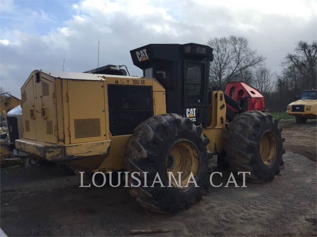 Caterpillar 573C, Abatteuse groupeuse, Forestier