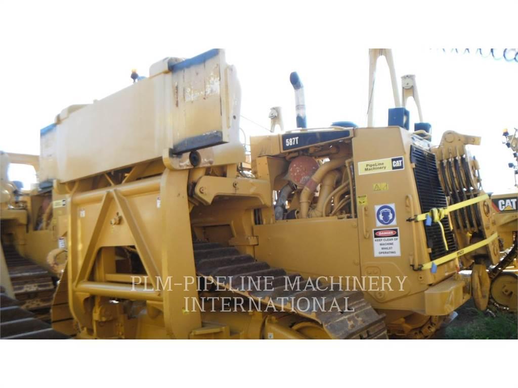 Caterpillar 587T, dźwigi boczne do układania rur, Sprzęt budowlany