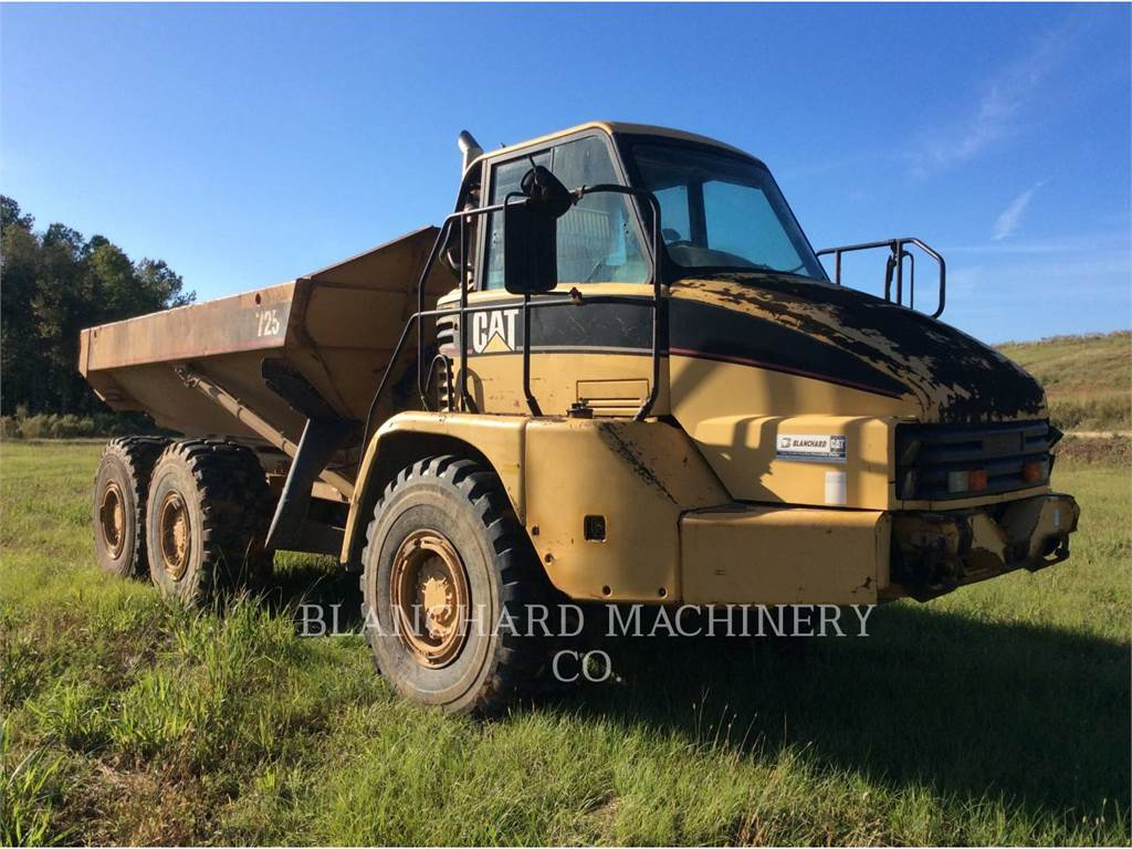 Caterpillar 725, Transportoare articulate, Constructii