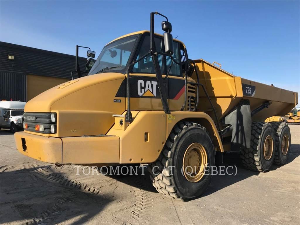 Caterpillar 725, Transportoare articulate, Constructii