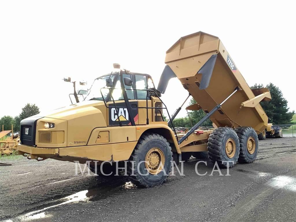 Caterpillar 725C T、铰接式自卸车、建筑设备