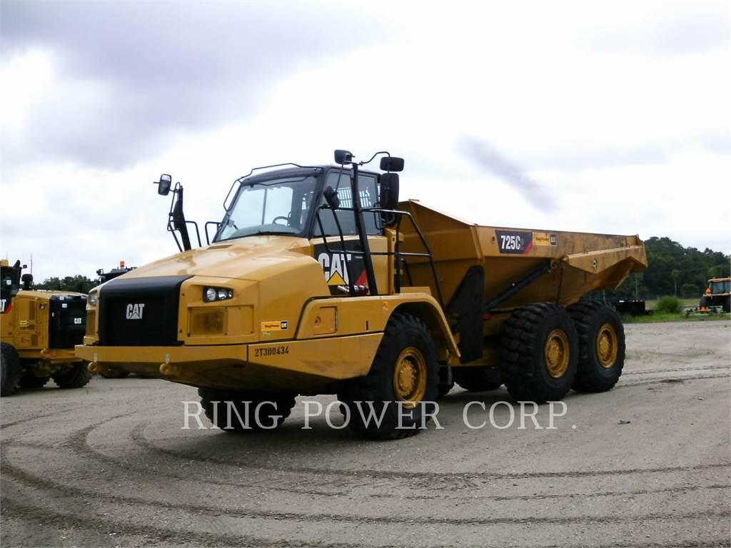 Caterpillar 725C2TG, Transportoare articulate, Constructii