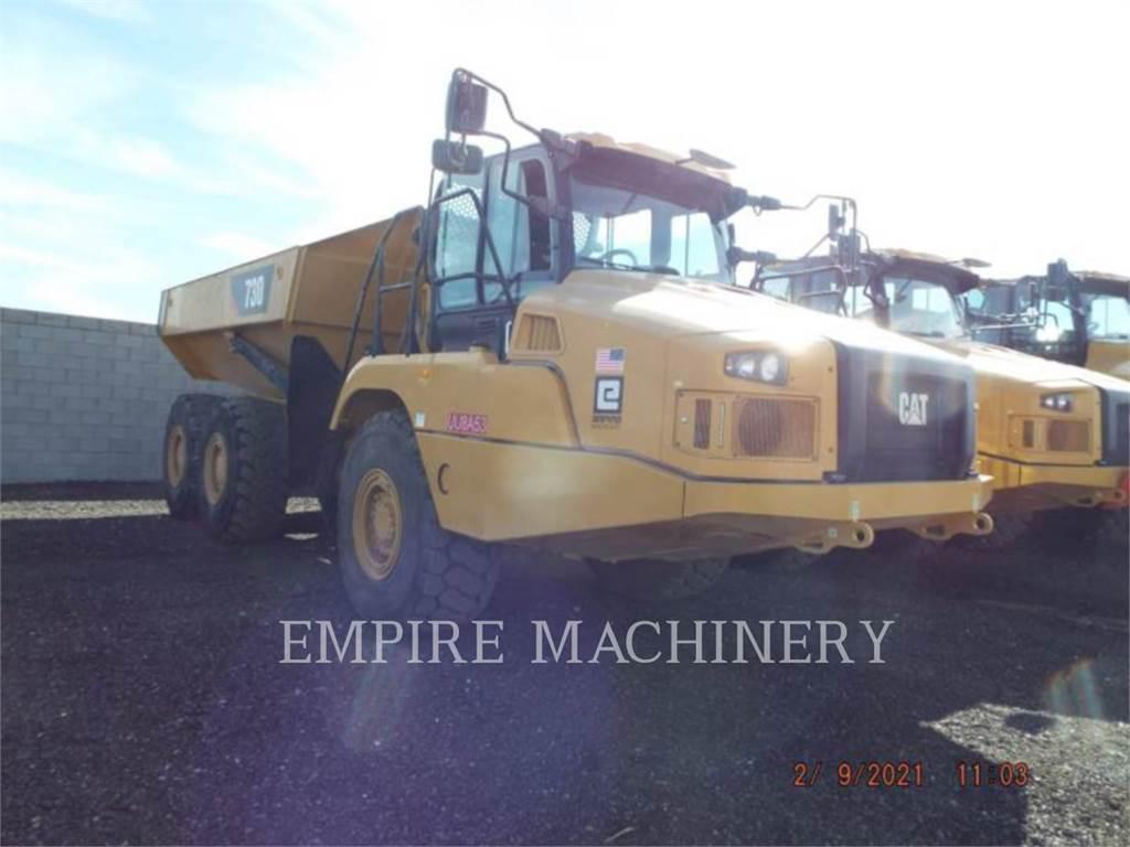 Caterpillar 730-04, Knik dumptrucks, Bouw