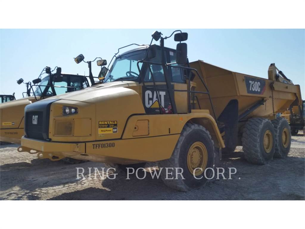 Caterpillar 730C, Transportoare articulate, Constructii
