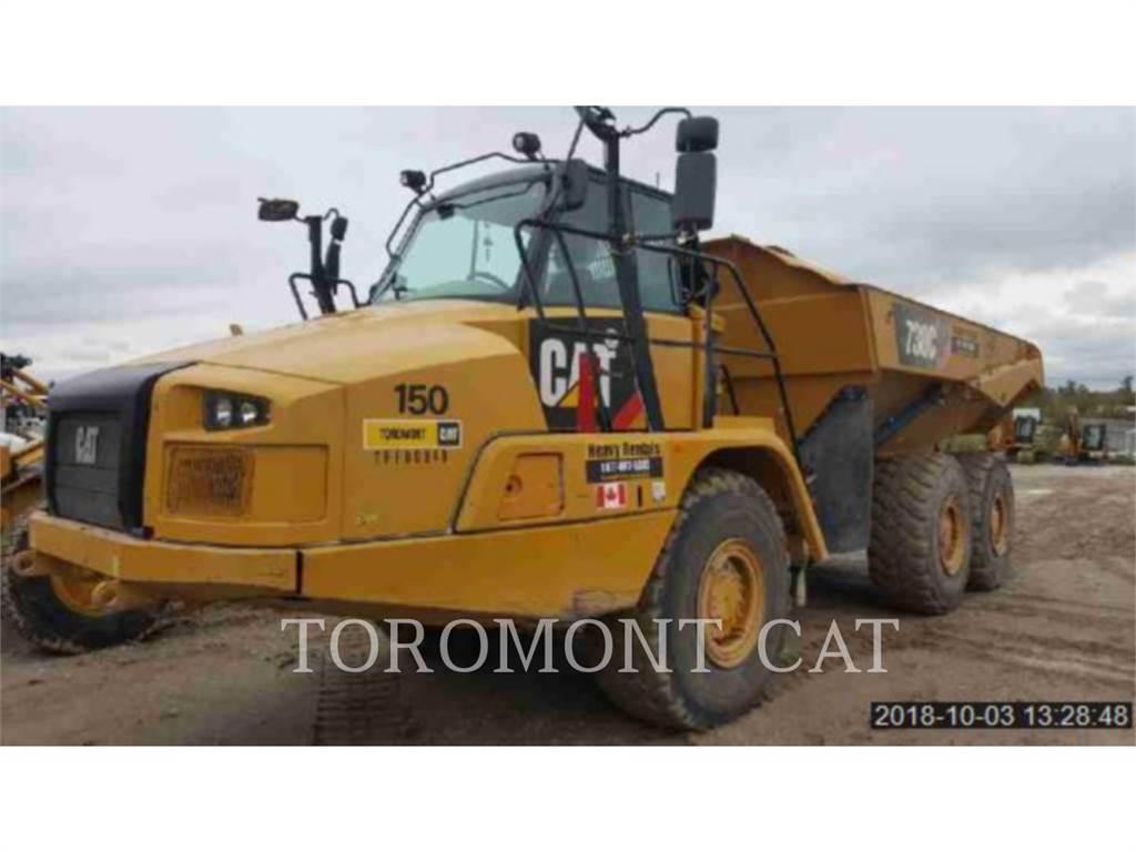 Caterpillar 730C, Knik dumptrucks, Bouw
