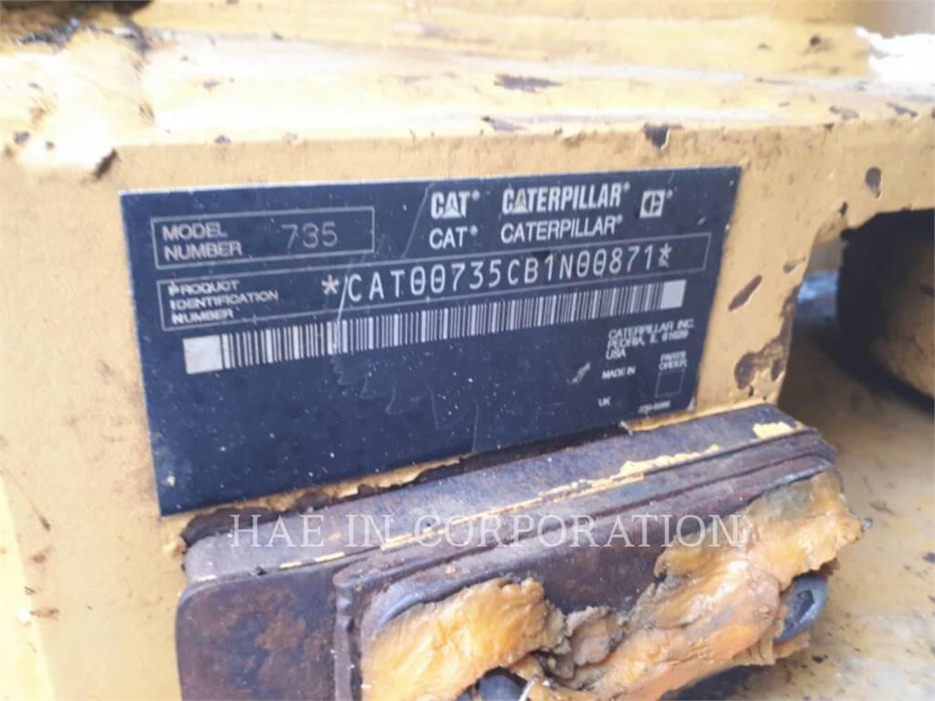 Caterpillar 735, Articulated Dump Trucks (ADTs), Construction