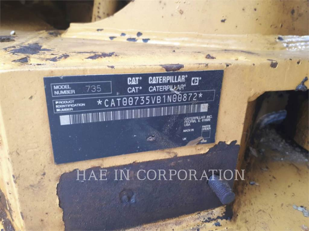 Caterpillar 735、アーティキュレート式ダンプトラック、建設