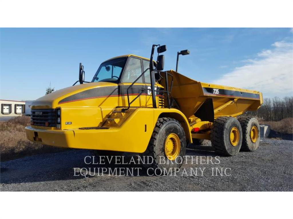 Caterpillar 735, Articulated Dump Trucks (ADTs), Construction