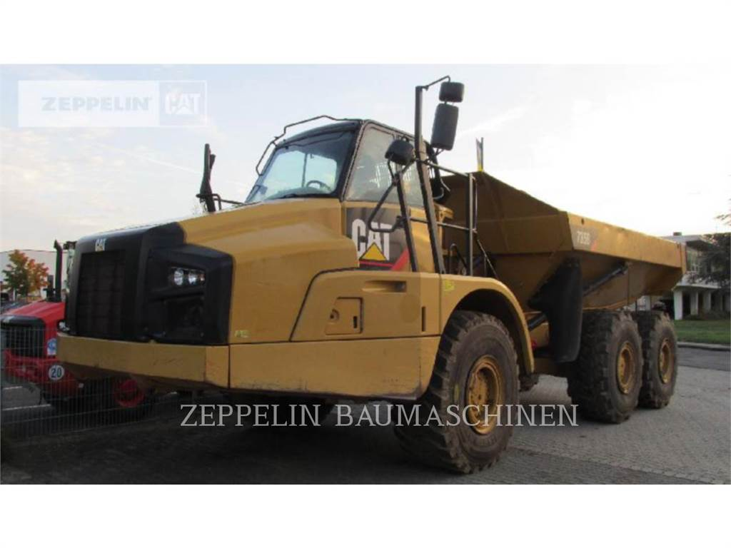 Caterpillar 735B, Transportoare articulate, Constructii