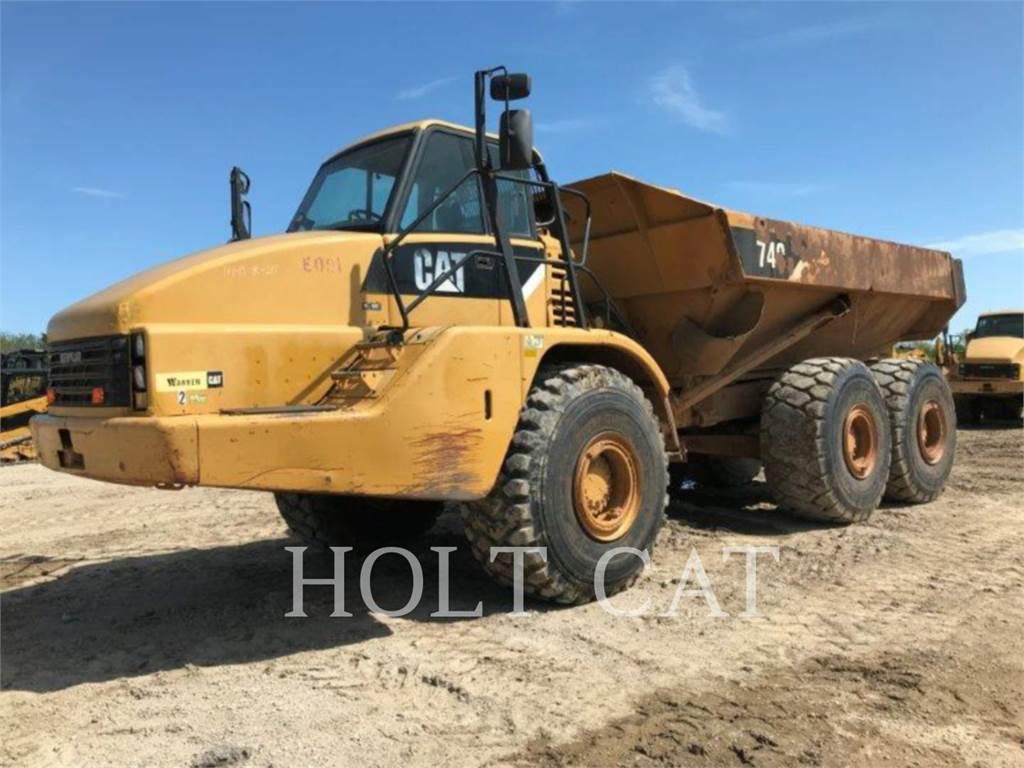 Caterpillar 740, Knik dumptrucks, Bouw