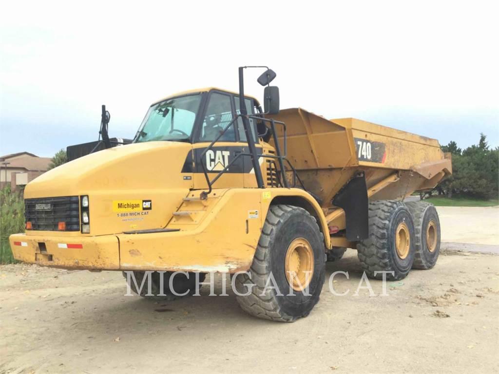 Caterpillar 740, Tombereau articulé, Équipement De Construction