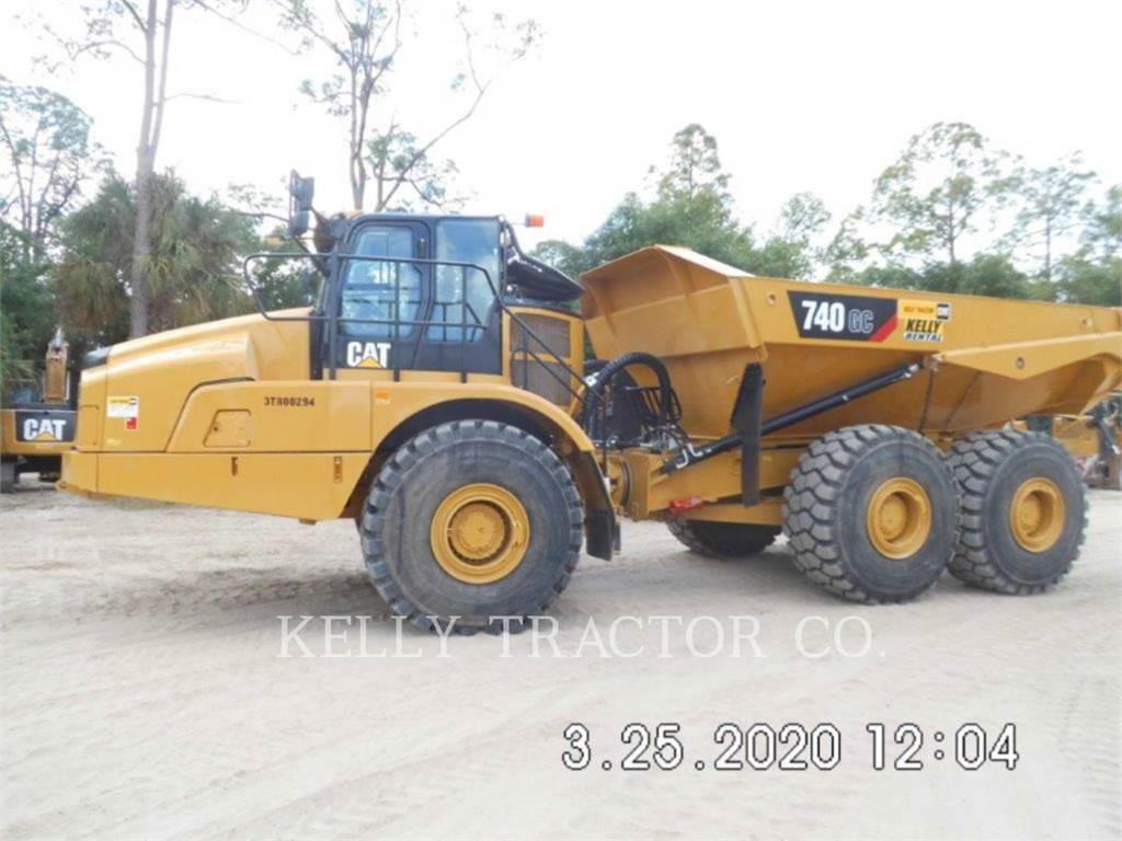 Caterpillar 740 GC, Camiões articulados, Equipamentos Construção
