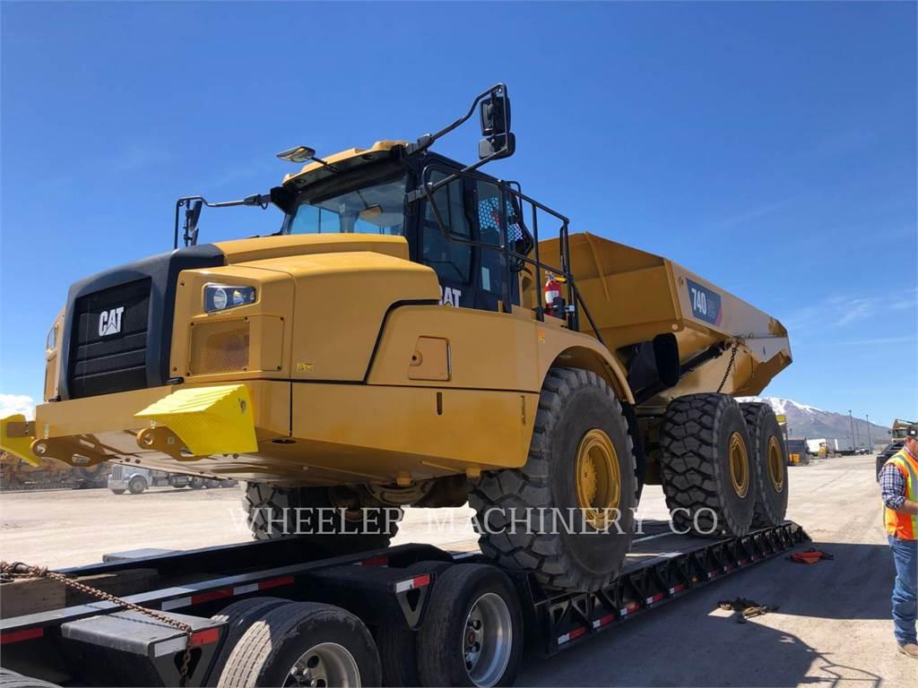 Caterpillar 740 GC, Dúmpers articulados, Construcción