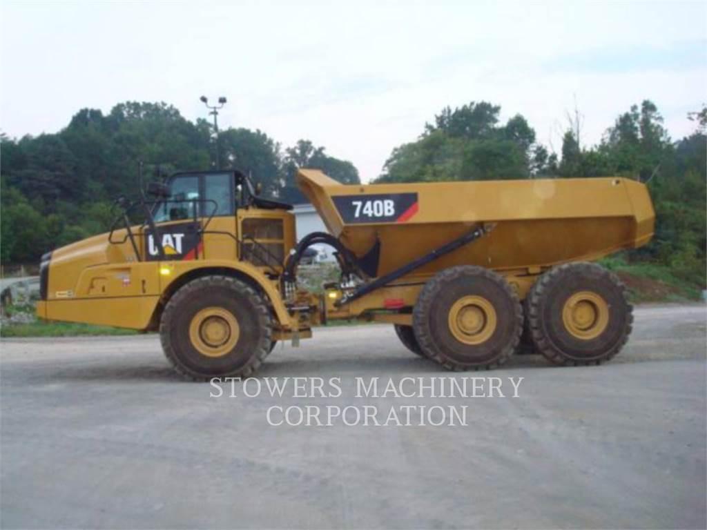 Caterpillar 740B, Dúmpers articulados, Construcción