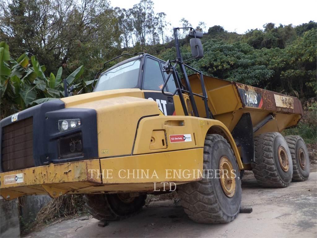 Caterpillar 740B, Transportoare articulate, Constructii