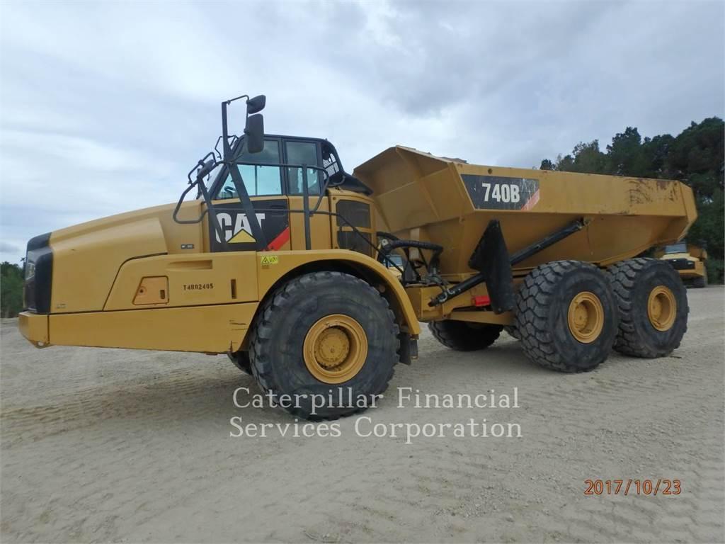 Caterpillar 740B, Wozidła przegubowe, Sprzęt budowlany