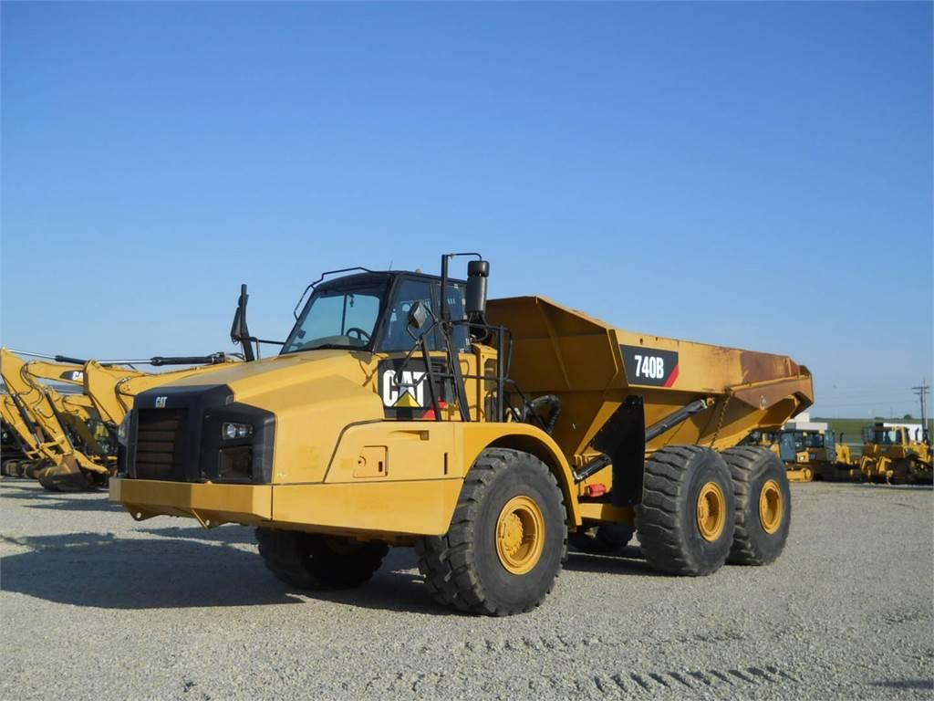 Caterpillar 740B, Articulated Dump Trucks (ADTs), Construction