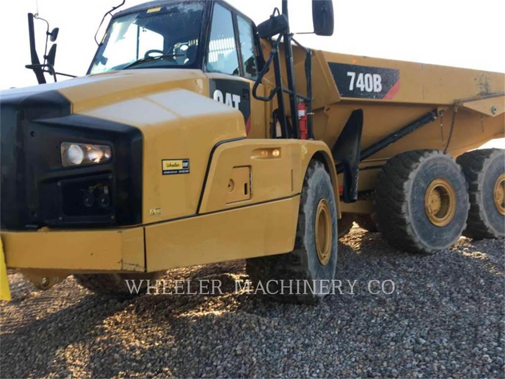Caterpillar 740B TG, Dúmpers articulados, Construcción