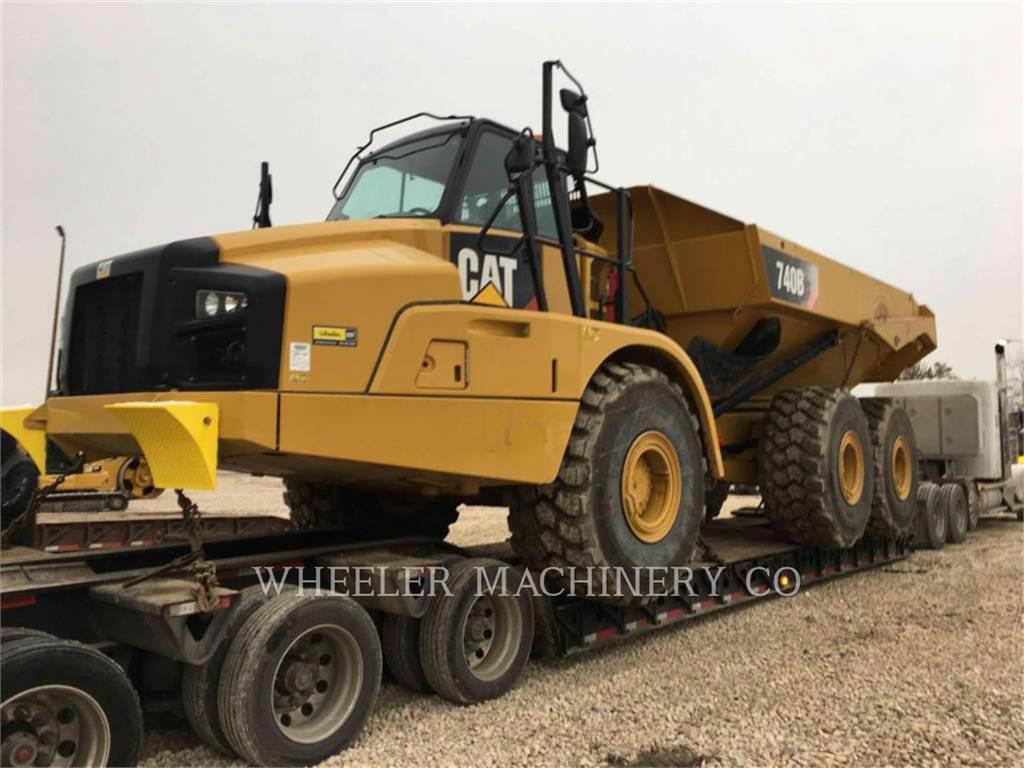 Caterpillar 740B TG、アーティキュレート式ダンプトラック、建設
