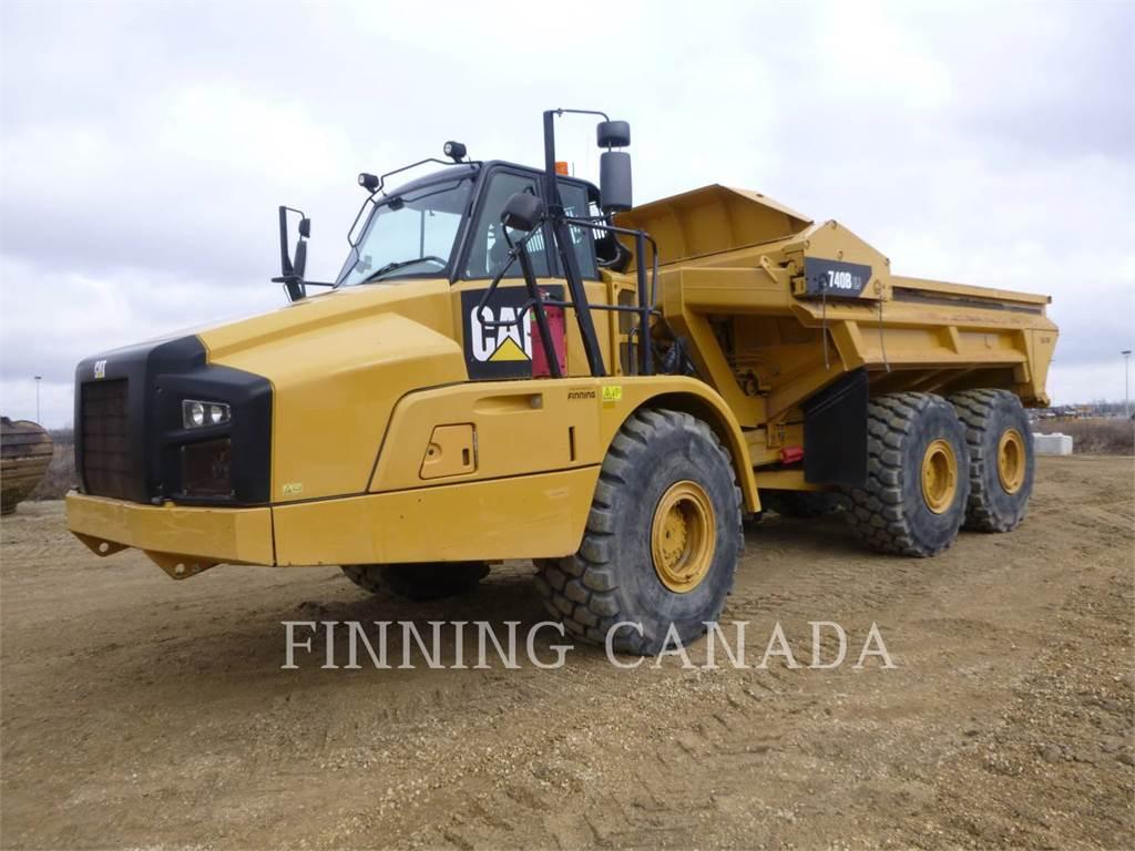 Caterpillar 740BEJ, Transportoare articulate, Constructii