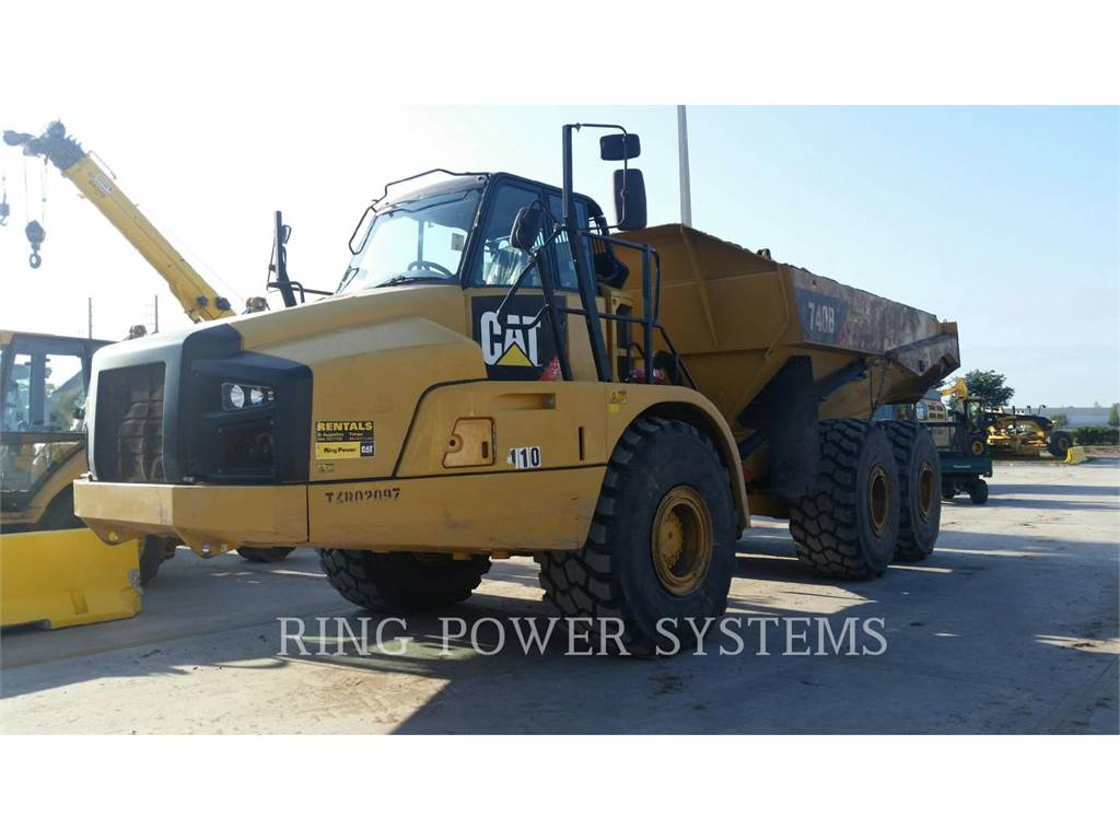Caterpillar 740BTG, Articulated Dump Trucks (ADTs), Construction