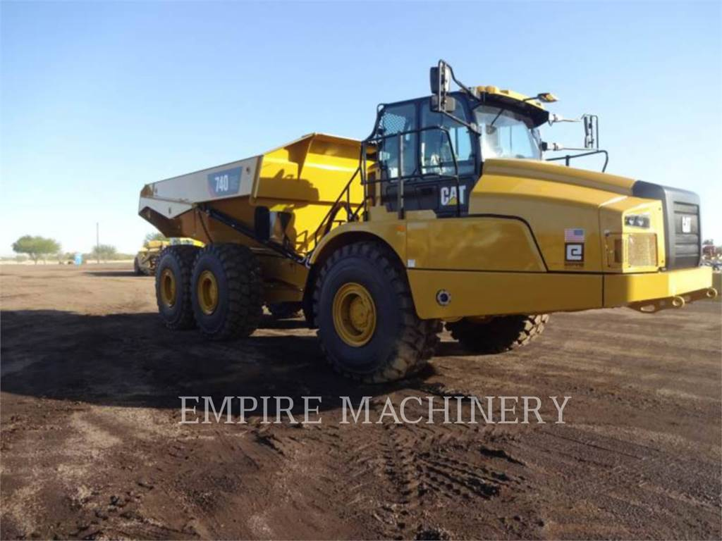 Caterpillar 740GC, Knik dumptrucks, Bouw