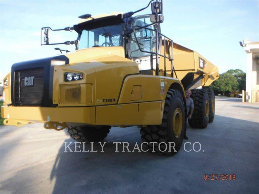 Caterpillar 745, Transportoare articulate, Constructii