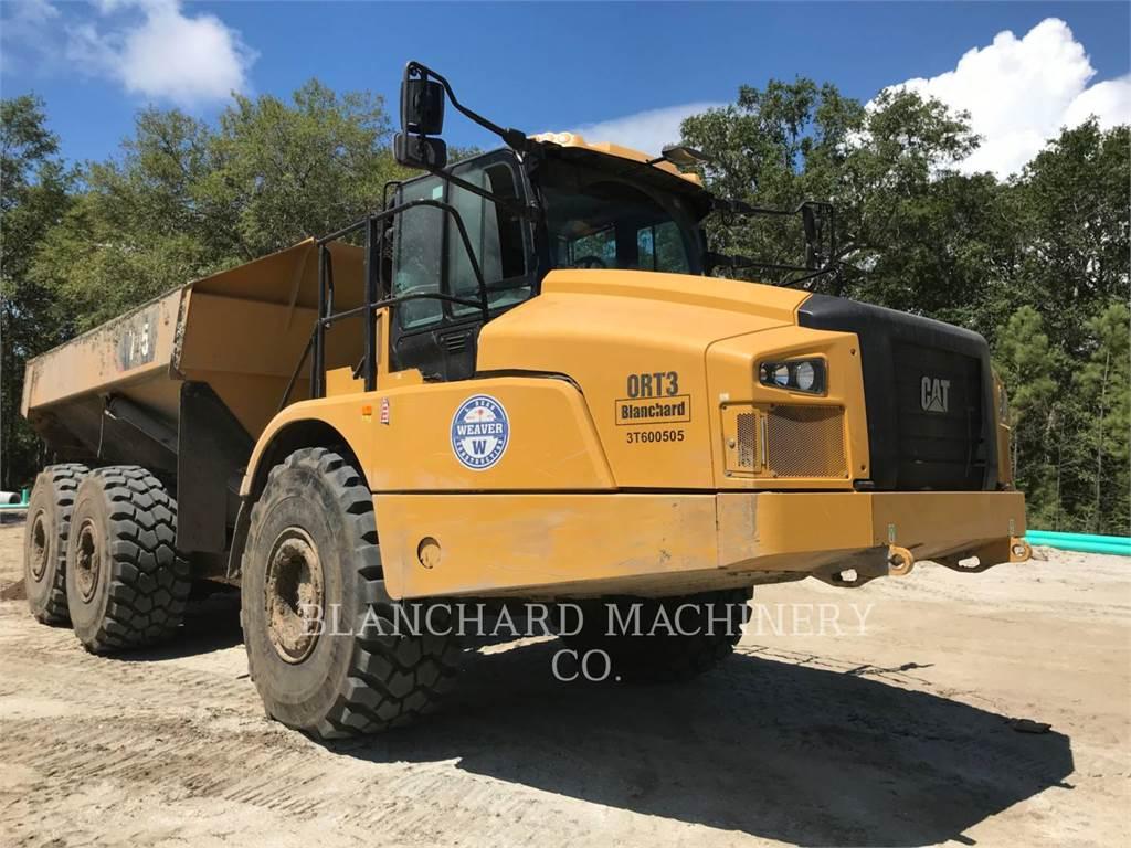 Caterpillar 745, Transportoare articulate, Constructii