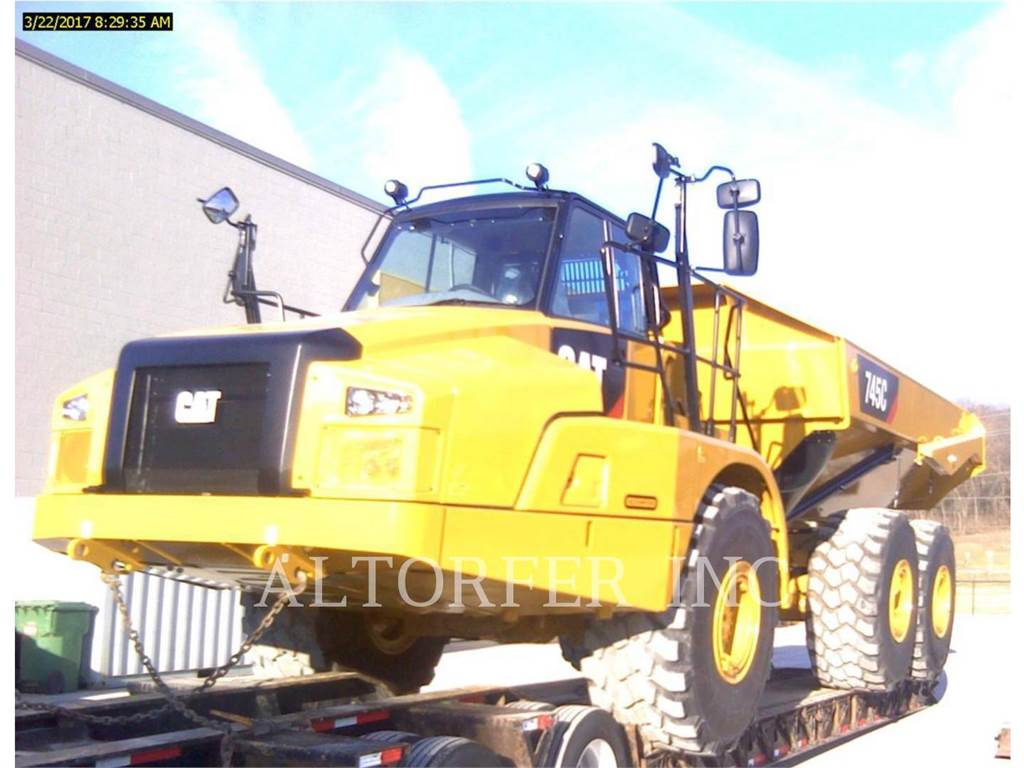 Caterpillar 745C, Transportoare articulate, Constructii