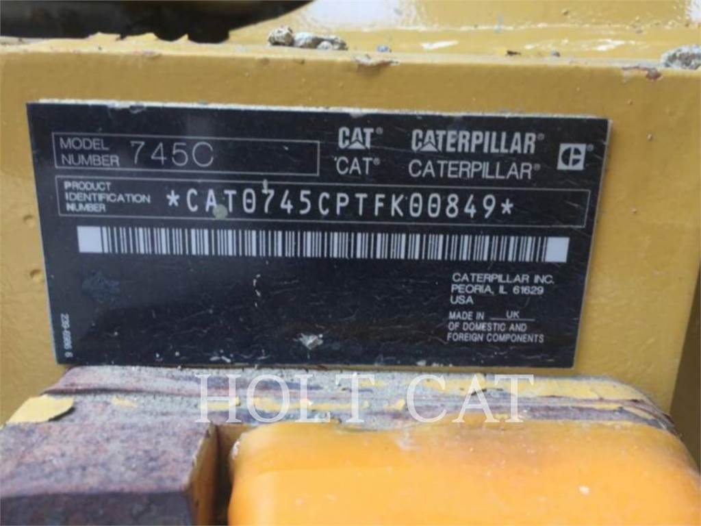 Caterpillar 745C, Knik dumptrucks, Bouw