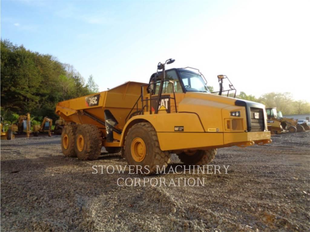Caterpillar 745C、铰接式自卸车、建筑设备