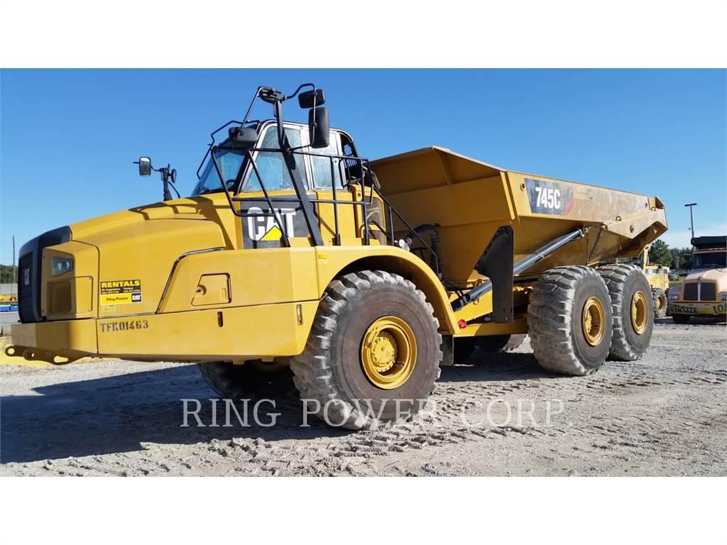 Caterpillar 745CTG, Articulated Dump Trucks (ADTs), Construction