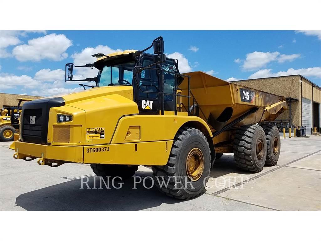 Caterpillar 745TG, Transportoare articulate, Constructii