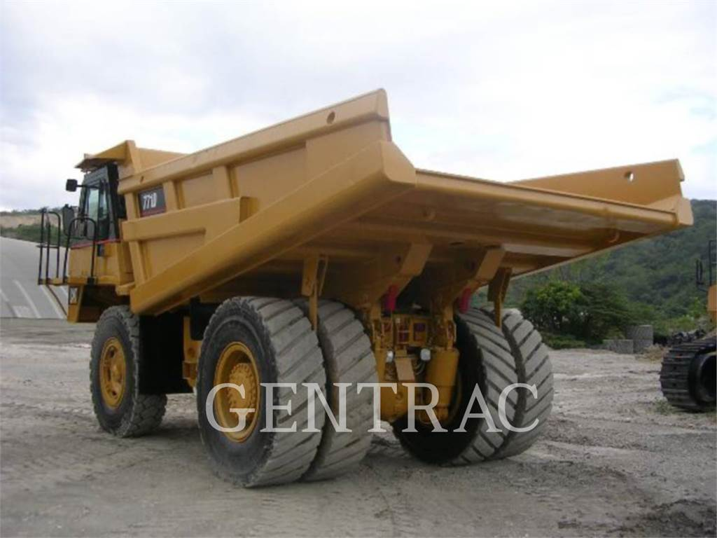 Caterpillar 771D, Transportoare articulate, Constructii
