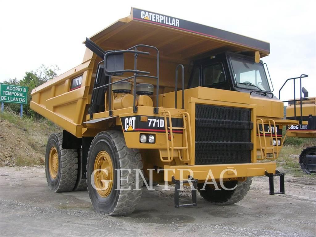 Caterpillar 771D, Transportoare articulate, Constructii