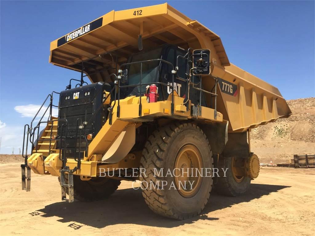 Caterpillar 777G, Dúmpers articulados, Construcción